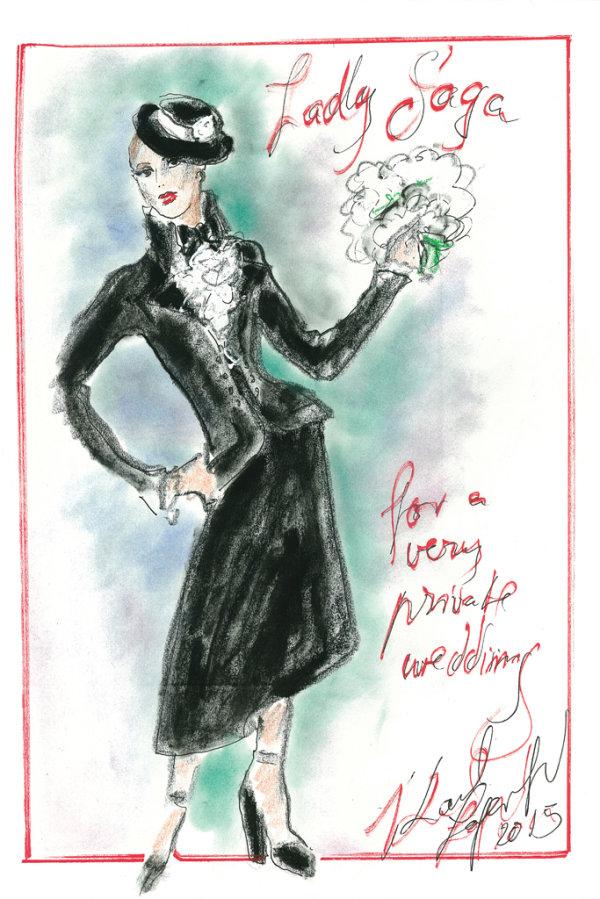 Свадебное платье Леди Гага от Chanel