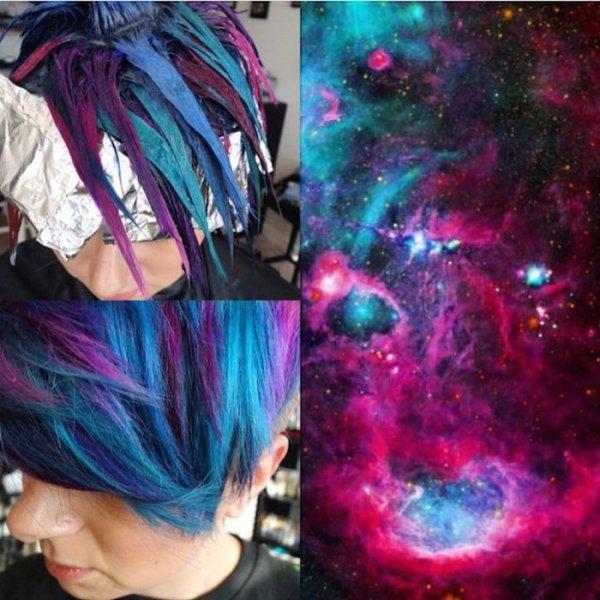 Галактика, умещенная в пределах прически.